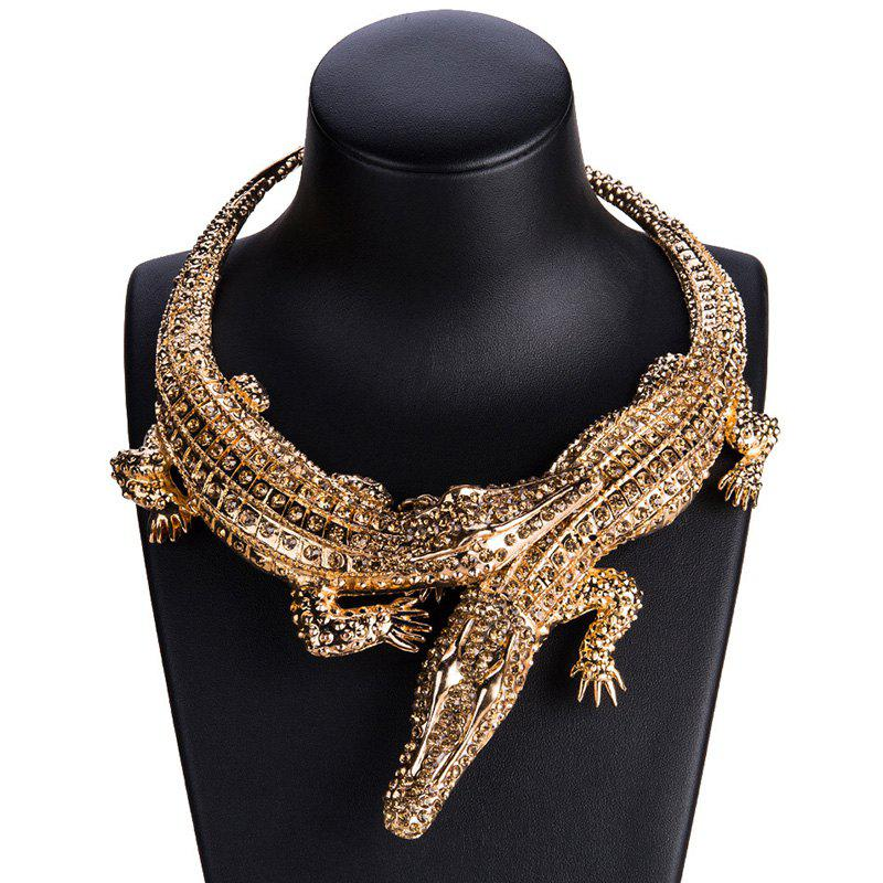 Affordable Exaggerated Big Crocodile Diamond Necklace