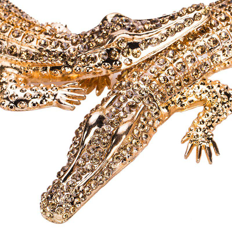 Hot Exaggerated Big Crocodile Diamond Necklace