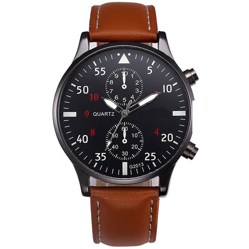 Affordable Fashion Leather Band Men Sports Clock Analog Quartz Wrist Watches