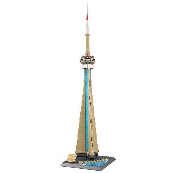Best Wange Canada Toronto TV Tower Building Assembly and Inserting Blocks Educational Toys