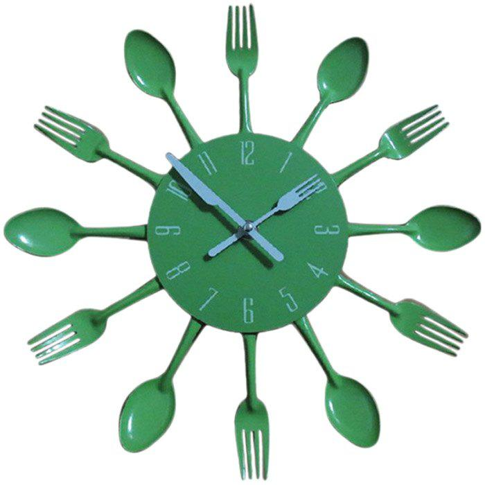 Discount Creative Stainless Steel Knife Fork Wall Clock