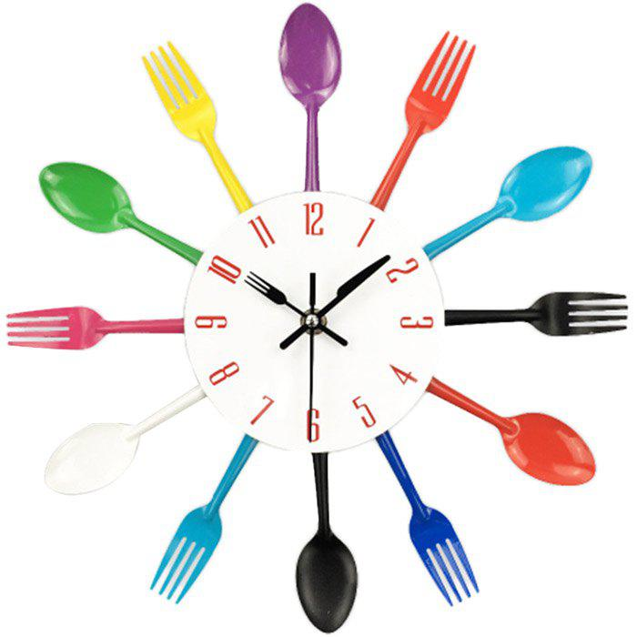 Fancy Creative Stainless Steel Knife Fork Wall Clock