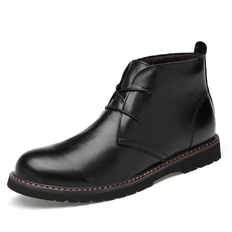 Discount High-top Casual Men Boots Leather Shoes