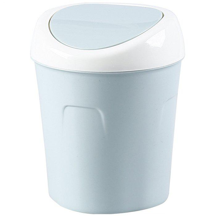 10e14770c Fancy Household Mini Trash Can Living Room Bedroom Office Paper Creative  Shaking Cover Desktop Trash Can