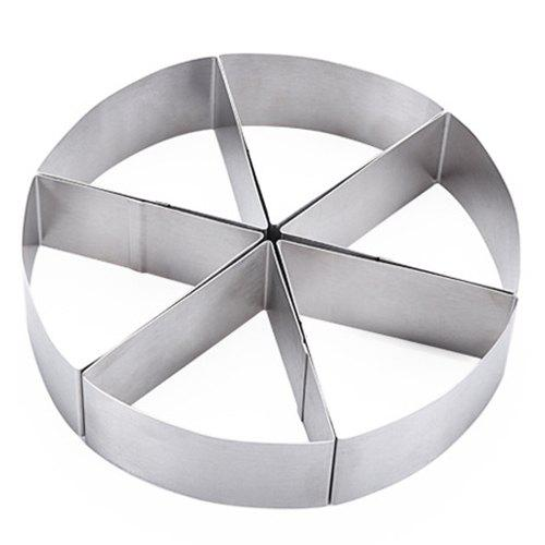Buy 6-part Circular Mousse Ring Cake Mold Baking Tool Bread Pizza Stainless Steel Cake Mold