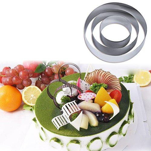 Fashion Baking Tools DIY Round 430 Stainless Steel Cake Mold Cookie Mould 3pcs