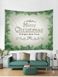 Christmas Tree Blessing Print Tapestry Wall Hanging Decor -