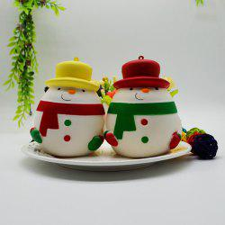 Creative Pu Slow Rebound Toy Squishy Fat Round Snowman Decompression Vent Christmas -