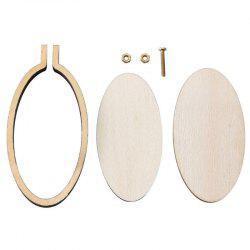 8-3C8D9 Wooden Small Embroidered Stretch Mini Jewelry Cross Stitch Fixed Frame Oval Vertical -