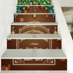 Christmas Ball Design Stairs Sticker 6pcs -