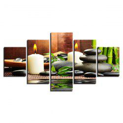 Wulian Oil Painting Core Bamboo Candle 5PCS -