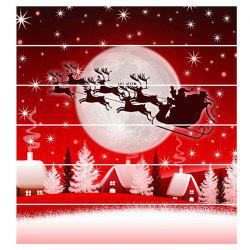 6 Stair Stickers Christmas Decoration Painting Christmas Carriage Shadow -