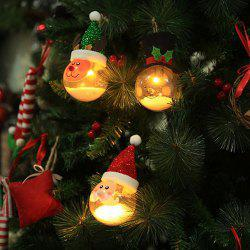 Creative Old Man Snowman Christmas Tree Decoration With Lights Glowing Bubble Particles Transparent Christmas Ball -