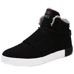 Winter Plus Velvet Cotton Men High-top Shoes -