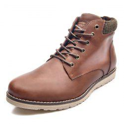 XPER Men Comfortable Boots Lace-up Warm Wearable -