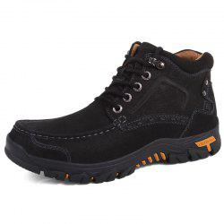 Men High-top Boots Comfortable Warm Lace-up Sports -
