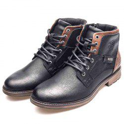 XPER Men Warm Waterproof Comfortable Lace-up Boots -