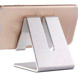 Mobile Tablet Desktop Support Double Fold Aluminum Alloy Metal Phone Stand -