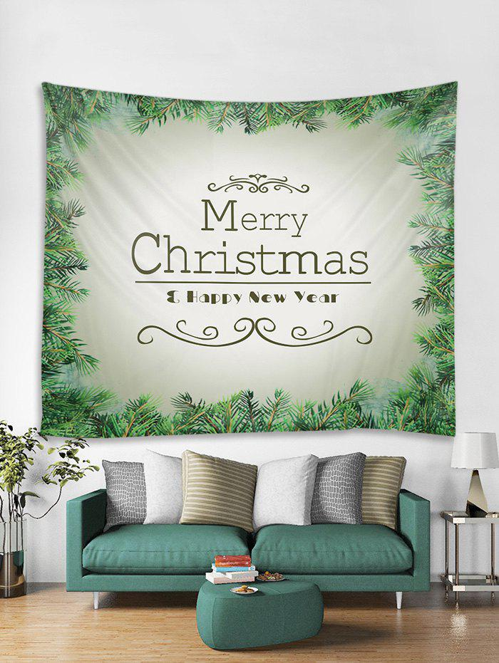 Affordable Christmas Tree Blessing Print Tapestry Wall Hanging Decor