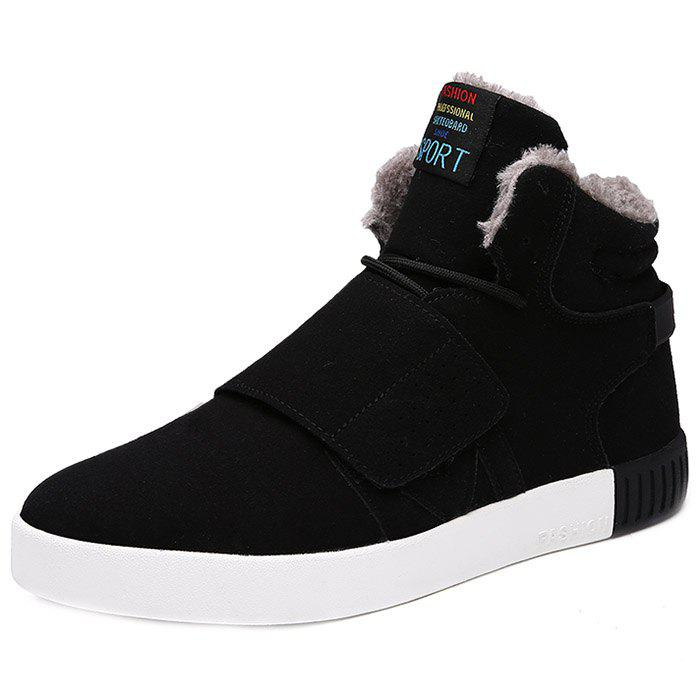 Fashion Winter Plus Velvet Cotton Men High-top Shoes