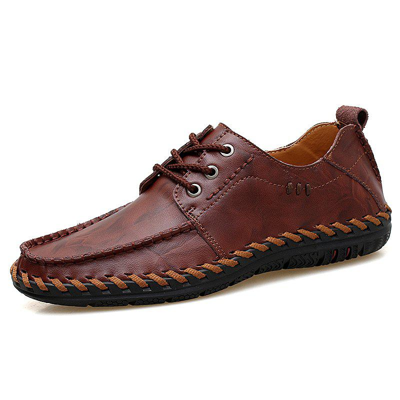 Latest Men Lace-up Flat Shoes Comfortable Leisure Durable