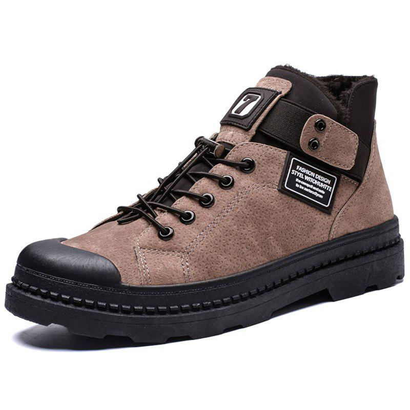 Cheap Men High-top Boots Comfortable Warm Lace-up Stylish