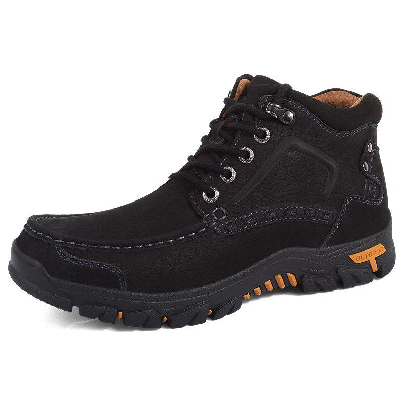 Latest Men High-top Boots Comfortable Warm Lace-up Sports