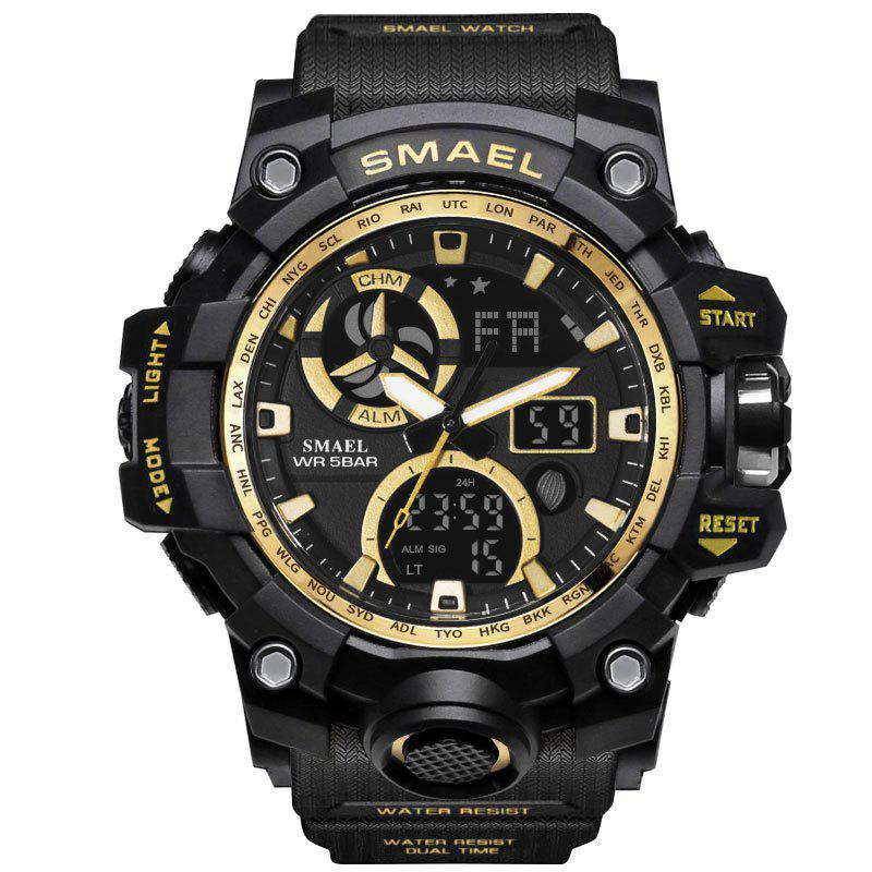 Online SMAEL 1545C Male Sports Waterproof Double Display Luminous Multi-function Electronic Watch