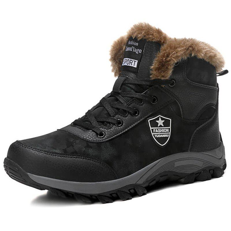 Discount Plus Size Plus Velvet High-top Snow Boots
