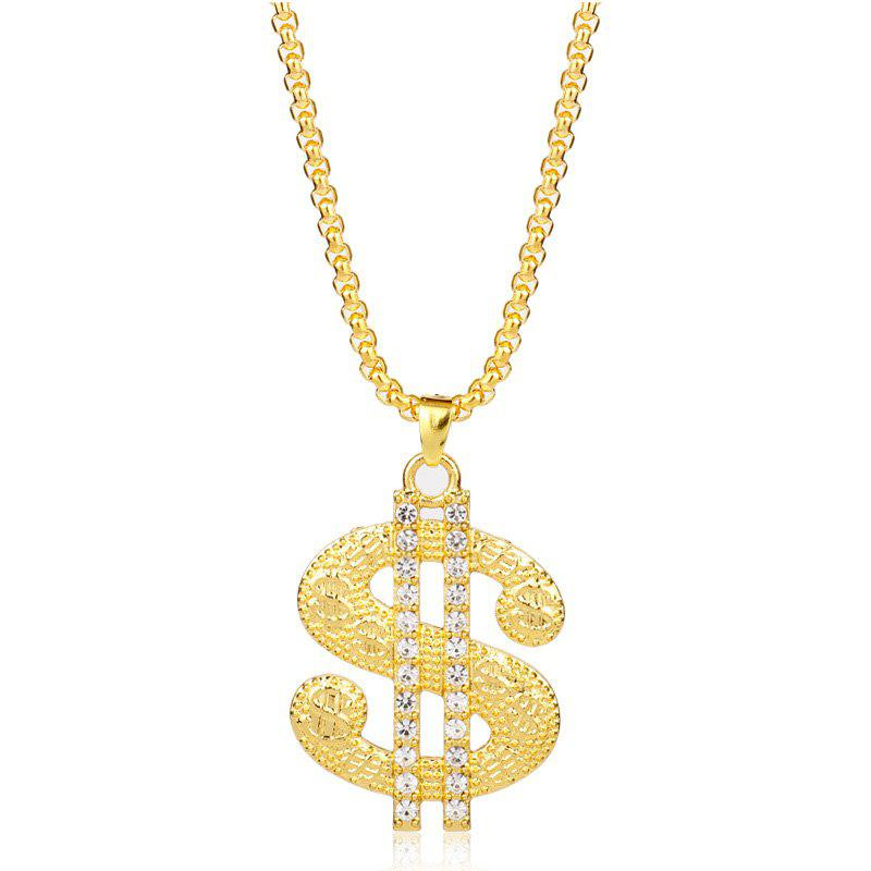 Outfits Hip Hop Nightclub Dollar Sign Pendant Necklace