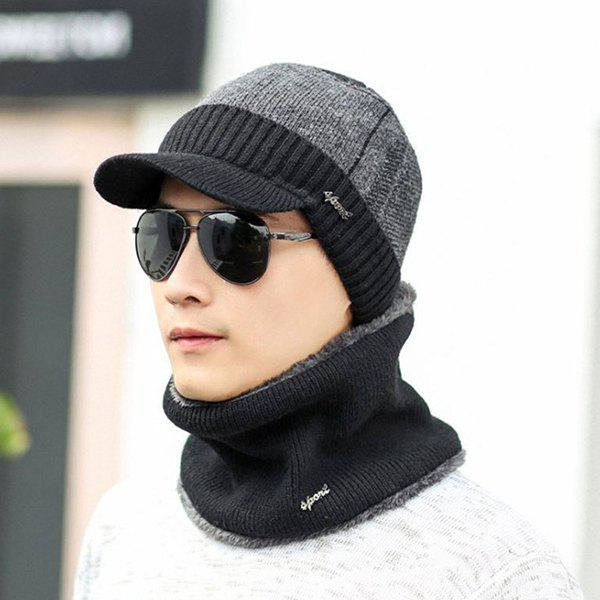 Men Hat Suit Winter Youth Warm Wool Cotton