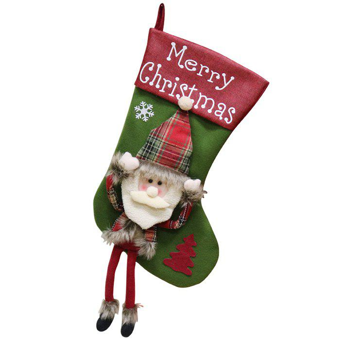 0402609563f Fashion Christmas Decorations Christmas Big Socks Christmas Tree Pendant  Children Gift Candy Bag Scene Dress Up