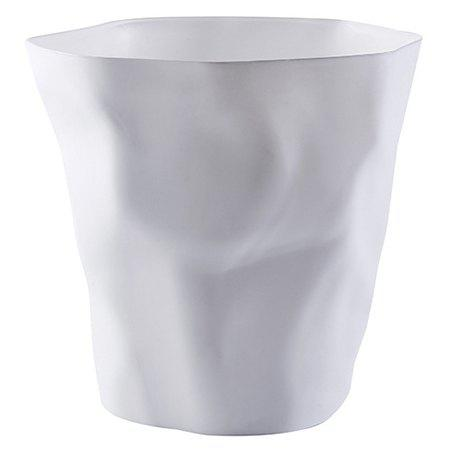 Nordic Creative Pleated Trash Can Household Bathroom Without Cover Plastic Waste Paper Basket Living Room Bedroom Simple Garbage Can Blanc