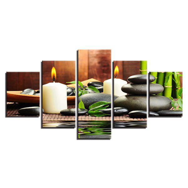 Hot Wulian Oil Painting Core Bamboo Candle 5PCS