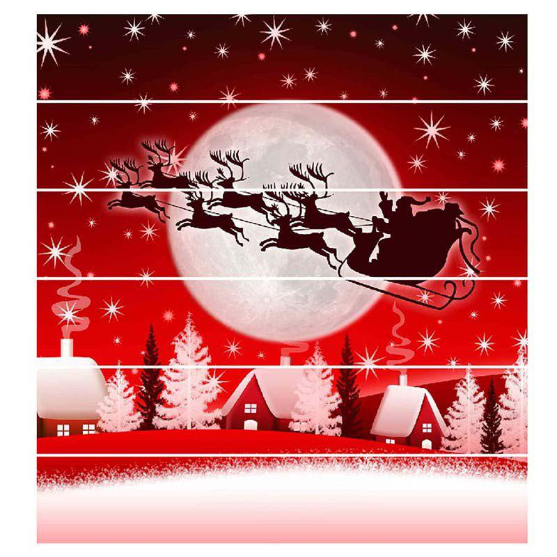 Sale 6 Stair Stickers Christmas Decoration Painting Christmas Carriage Shadow