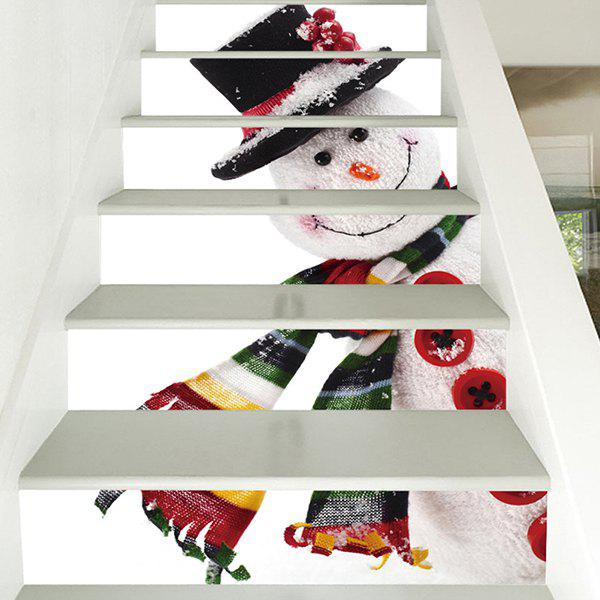 Sale 6 Stair Stickers Christmas Decoration Cute Snowman
