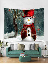 Christmas Cloak Snowman Print Tapestry Wall Hanging Decoration -