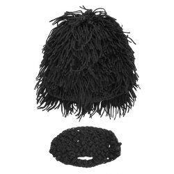 2-L3788 Wig Bearded Savage Hat Wool Hat -