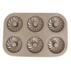 Rectangular Cake Mold DIY Alloy Non-stick Round Oven Household 6 Whirlwind Cake Baking Mold -