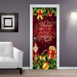 Door Sticker Decoration Drawing Christmas Bell -