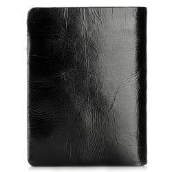 M1001 Leather Short Coin Purse Oil Wax Leather Twofold Wallet -