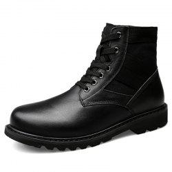 Simple High-top Army Boots -