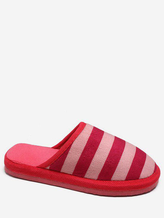 New Stripe Print Winter Indoor Slippers
