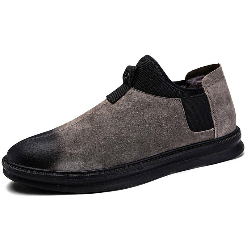 Outfit Casual Cotton Leather Shoes for Men