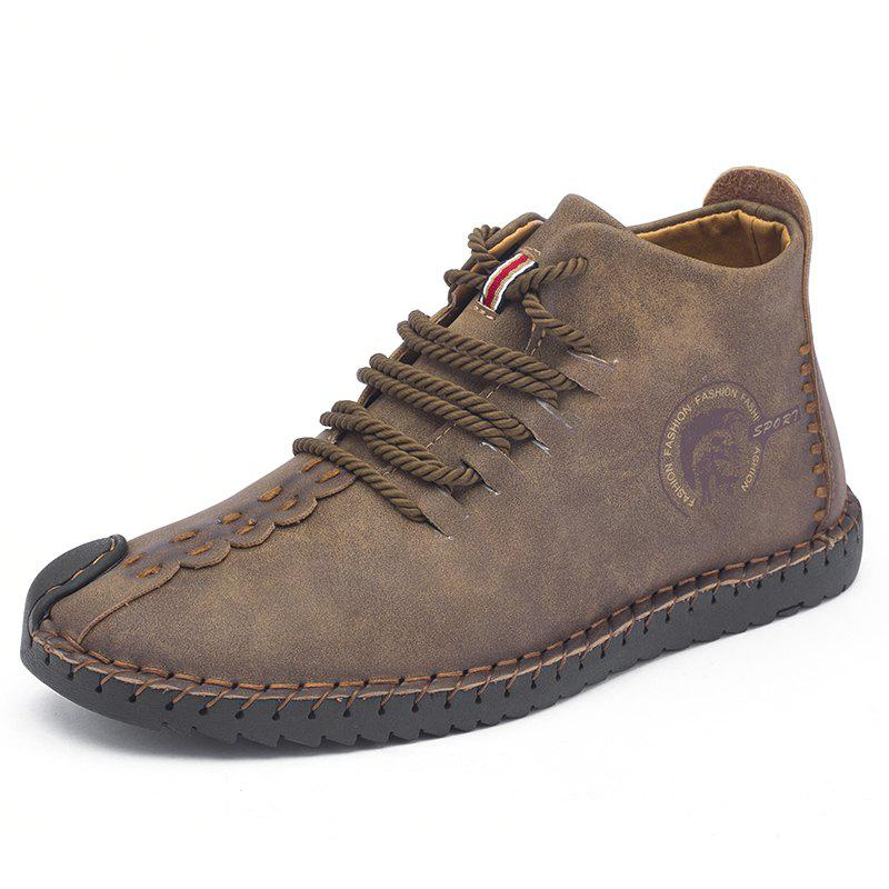 Outfit Men's Trend Large Size Handmade Shoes Leather Casual Shoes