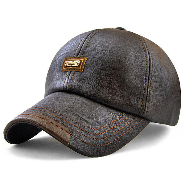 Outfits JAMONT Versatile Men Leather Baseball Cap