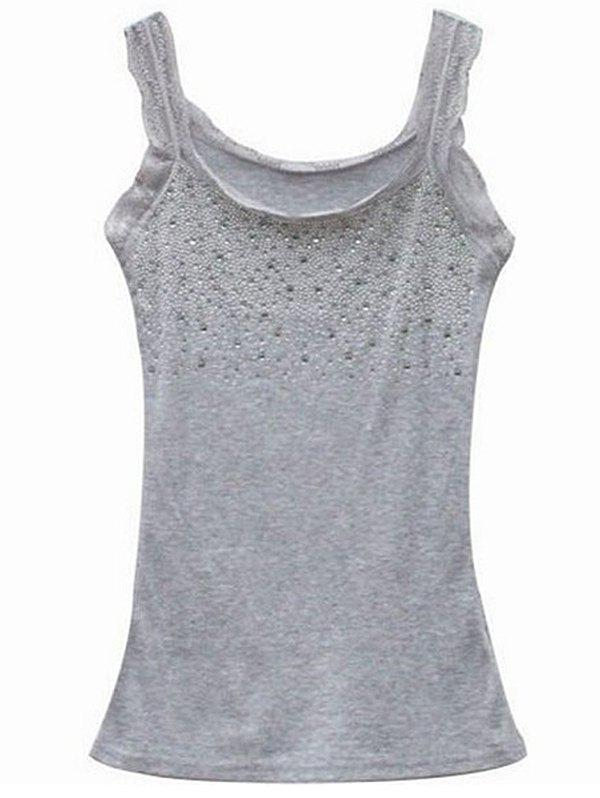 Outfits Slim-fit Hot Drilling Diamond Lace Bottoming Vest Camisole