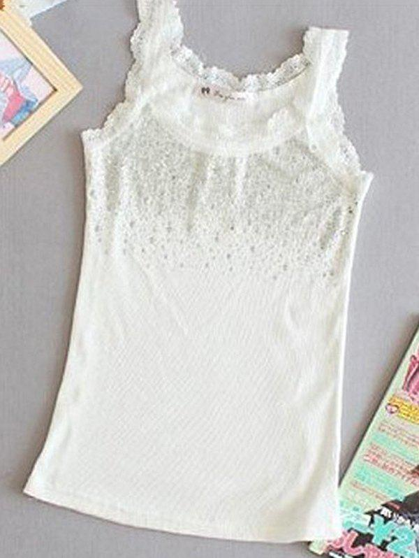 Outfit Slim-fit Hot Drilling Diamond Lace Bottoming Vest Camisole