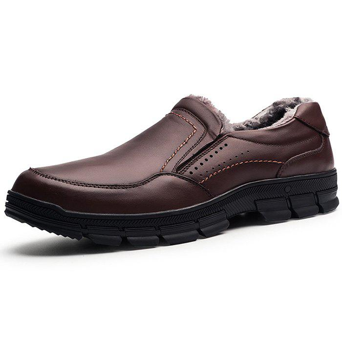 Sale Men Plus Velvet Warm Oxford Shoes