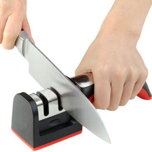 Chic Household Square Head Sharpener Handle Fast Knife Tool Manufacturers Two Slots Tungsten Steel Ceramic Whetstone